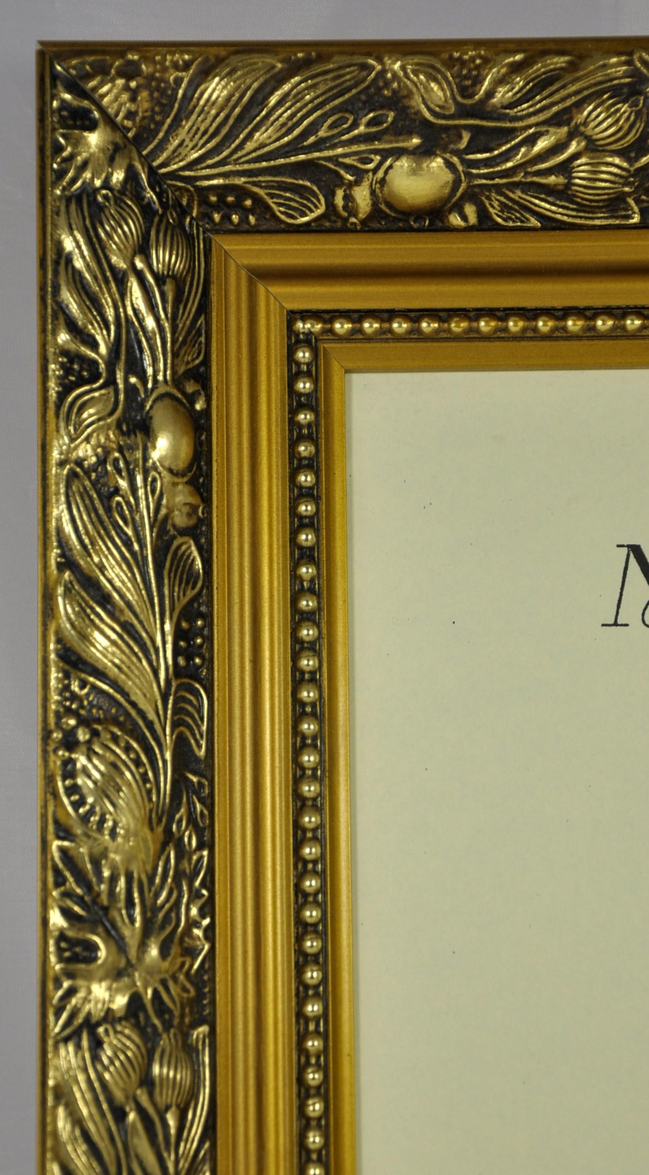 f4 quality wood frame in gold dahlia trade picture frames. Black Bedroom Furniture Sets. Home Design Ideas