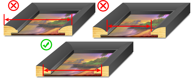 Picture Frame Sizing Guide Trade Picture Frames