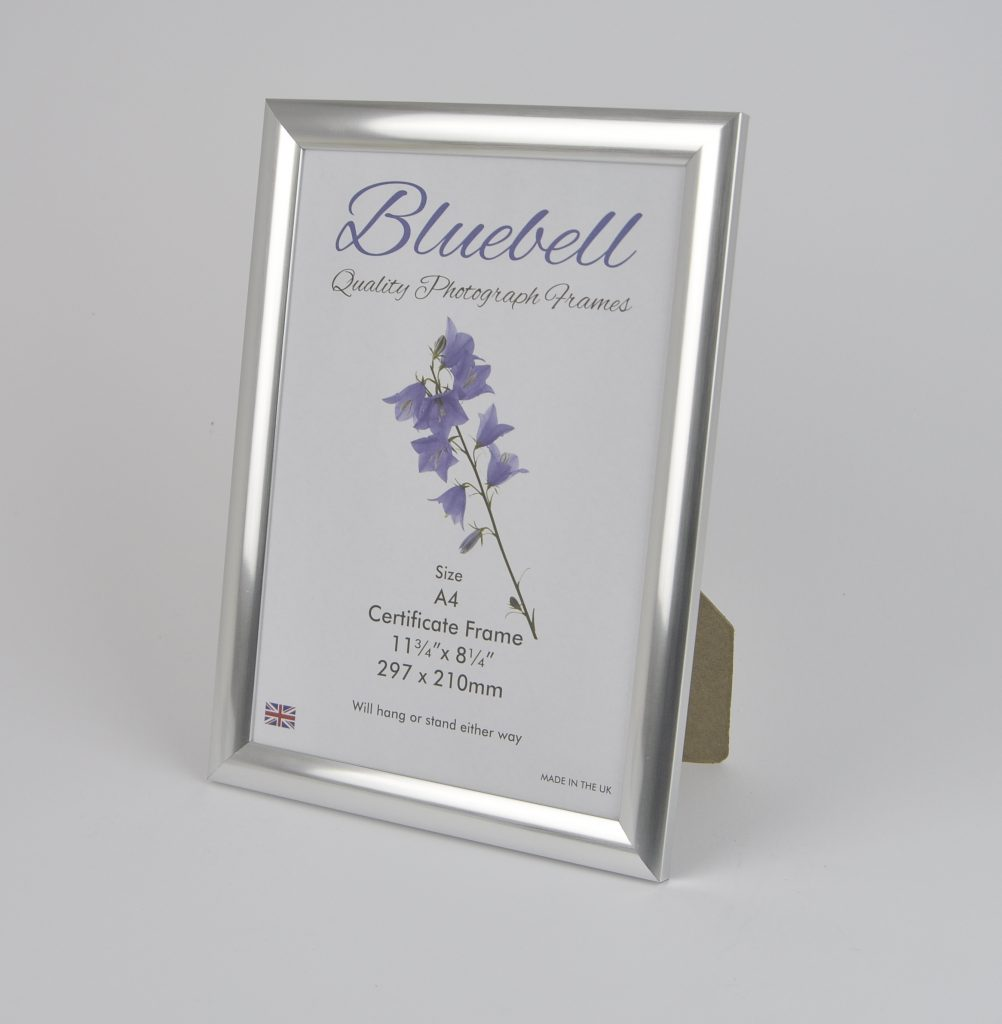 A4 CERTIFICATE FRAME C52 SILVER (Packs of 10 frames) - Trade Picture ...