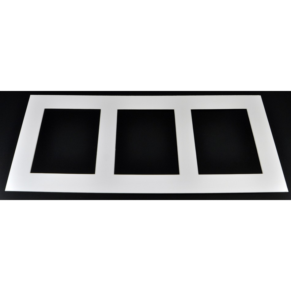WHITE MULTI PICTURE MOUNTS (Packs of 4 mounts) - Trade Picture Frames